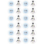 "Hygloss Themed Stickers - 3 sheets - Snowflakes & Snowmen, 1"" in diameter"