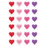 "Hygloss Themed Stickers - 3 sheets - Happy Hearts, 1"" in diameter"