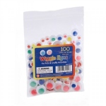 Wiggle Eyes - Paste On, 10 mm Assorted , Pack of 500