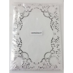 "Hygloss Doilies - Specialty: 100 ct., 10""x14"" White Oblong"