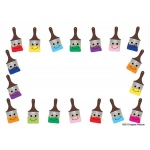 "Hygloss Name Tags - 36 ct., 3.5"" x 2.5"" - Paintbrushes"