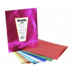 "Hygloss Metallic Paper - 20""x26"", Red: 12 Sheets, Pack of 10"