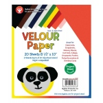 "Hygloss Velour Paper - 10 sheets 8.5""x11"", Yellow"