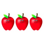 Hygloss Accents - 30/pack - Happy Apples