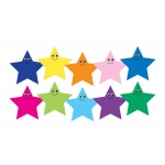 Hygloss Accents - 30/pack - Happy Multicolor Stars