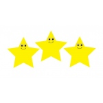Hygloss Accents - 30/pack - Happy Yellow Stars