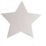 "Hygloss Corrugated Shapes - 11"" Star, 12 ct."