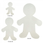 "Hygloss Corrugated People & Shapes - 12"" person, 12 ct."