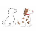 "Hygloss Big Cut Outs - White, 60# Text Weight, 25 ct., 16"" Dog"
