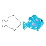 "Hygloss Big Cut Outs - White, 60# Text Weight, 25 ct., 12"" Fish"