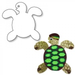 "Hygloss Big Cut Outs - White, 60# Text Weight, 25 ct., 16"" Sea Turtle"