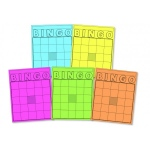 Hygloss Colored Bingo Cards - 36 Count Cardstock