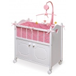 Badger Basket Doll Crib with Cabinet Bedding Mobile: Chevron Print