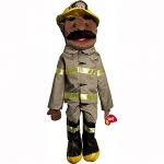 Sunny Toys Dad: Firefighter, Ethnic, 28""