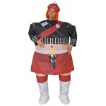 Inflatable Highlander Adult Costume: Red, One-Size, Everyday, Male, Adult