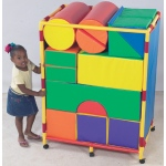 The Children's Factory Soft Big Block Trolley: Set A