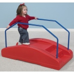 The Children's Factory Red Rocker/Toddler Bridge with Rails