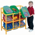 The Children's Factory 12 Bin Tilt Storage