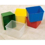 The Children's Factory Clear X-Size-Cubbie: #1136-W10-L1, 10 per Box