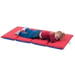"The Children's Factory 1"" Thick Infection Control Mat: 4 Sections, Red/Blue, Pack of 10"