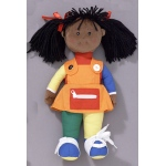 "The Children's Factory Learn to Dress Black Girl - Poly Bag: 15"" Tall"