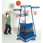 The Children's Factory 4-Ring Basketball Set
