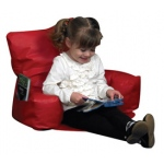 The Children's Factory Sit-N-Read Bean Bag: Red