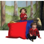 The Children's Factory Any Weather Pillow: Red and Blue, Set of 2