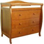 AFG Grace Changing Table: Pecan