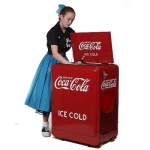 American-Retro Coke Machine (Refrigerant)